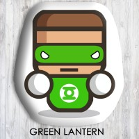 Bantal Boneka Dekorasi Superhero - XtraLarge Green Lantern