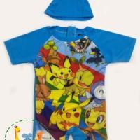 Baju Renang J2 Pokemon / Baju Renang Anak Laki / Swimsuit Anak Lelaki