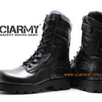 Sepatu PDL Boots Army Merk Ciarmy Type C-042R - Hitam, 46