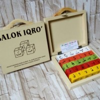 Mainan Anak Edukatif / Mainan Edukasi Anak / Mainan Kayu / Balok Iqro'