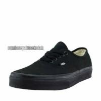 Sepatu Sekolah Vans Authentic California Full Black Hitam Cewe Cowo