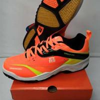 MURAH Sepatu Badminton RS - Sirkuit 570 - Orange Lemon