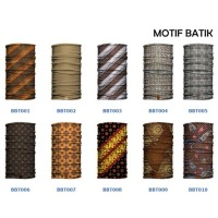 BAFin Motif Batik Indonesia (Buff Masker Baff Bandana Multifungsi)