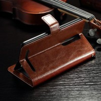 Leather Flip Cover Wallet Asus Zenfone 2 5,5 ZE551ML Dompet Kulit HP