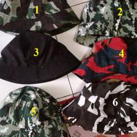 Terbaru Murah Grosir P253 Topi Bucket hat motif army / baket army / to
