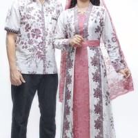 Sarimbit Pasangan Keluarga Gamis Maxi Long Dress Batik 1596 Fanta