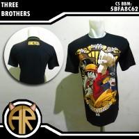 Three Brothers Shirt - Kaos Anime Jepang One Piece Ace Luffy Sabo