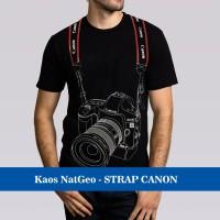 Kaos Baju Distro Murah Natgeo Photographer fotographer 3D STRAP CANON