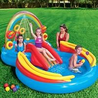 Kolam Renang anak mandi bola Intex Rainbow Ring Play Centre 57453