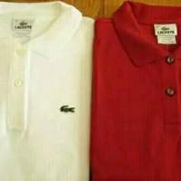 Polo shirt BIG SIZE XXXL-XXXXL LACOSTE MERAH DAN PUTIH