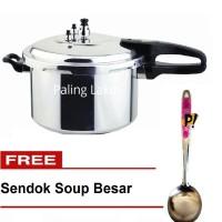 Panci Presto Trisonic Preasure Cooker - 8 L + FREE Sendok Soup Crystal