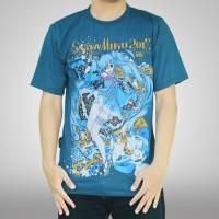T-shirt Kaos Hatsune Miku 2017 Biru Blue Anime KD CW 137