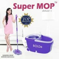 SUPER MOP BOLDE DELUXE +  Roda,dispenser,Stainles,Penarik,drainase 