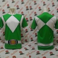 Kaos Mighty Morphin Power Rangers Full Print/T-shirt Power Rangers