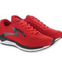 Sepatu Running Lari Specs Dual Enduro True Red Black White Original