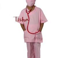 Baju Dokter Bedah Pink uk 4-5 Tahun / Kostum Profesi Anak