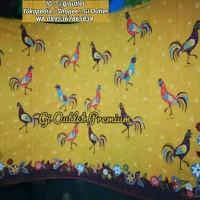 Bahan Batik Motif Ayam Bahan Katun Primis Bendera Warna Kuning