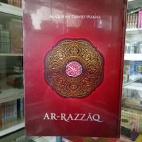 Alquran Tajwid Lansia AR-RAZZAQ, Al-quran Mushaf Ar-razaq ukuran jumbo