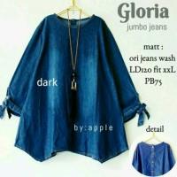 blouse jumbo xxl LD 120 - atasan jeans - baju wanita murah