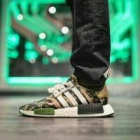 Sepatu ADIDAS NMD X BAPE CAMO GREEN ( PREMIUM HIGH QUALITY ).