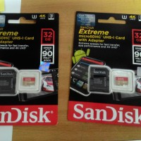Memory card Sandisk Extreme Micro SDXC UHS-I U3 Class 10 90MB/s - 32GB