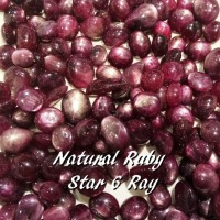 BATU AKIK PERMATA NATURAL RUBY STAR CORUNDUM 6STAR