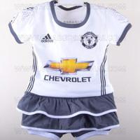 Baju Setelan Bola Jersey Anak Bayi Cewek Manchester United Third 3rd 2