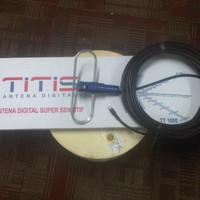 Terbatas Antena Titis Outdoor TT1000 + 10 meter Kabel Belden RG6 9116s