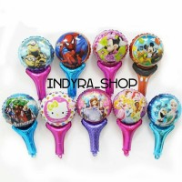 Balon Foil Pesta Ultah Ulang Tahun Tongkat Karakter Kartun Murah - Minnie Mouse