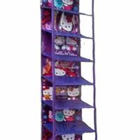 Harga termurah promo Hanging Shoes Organizer Hello Kitty Purple (Rak S
