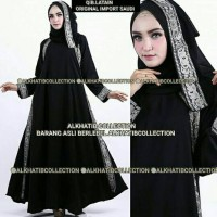 Abaya Qiblatain Original Import Saudi
