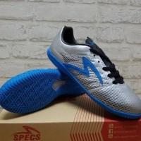 Sepatu Futsal Specs Apache Silver Rock Blue 400569