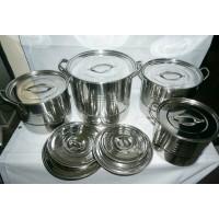 Saito 555 panci set stainless steel 4pc /steamer stock branded