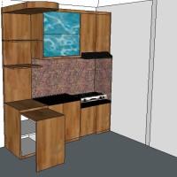 Kitchen set Ibu Clara - Apartemen Gading Nias Residence