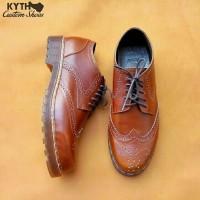 Sepatu Kulit Kustom   Brown Docmart