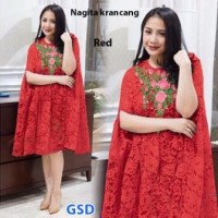 Baju Wanita / Cewek / Fashion Perempuan Nagita Krancang Red BC-094