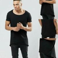 longline t-shirt with circle hem