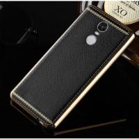 Redmi Note 4 Case Premium casing Backcase Look Leather TPU