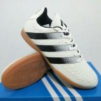 Sepatu Futsal Adidas ace 16 putih garis hitam grade ori