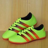 Sepatu futsal anak Adidas Hijau stabilo Lis orange