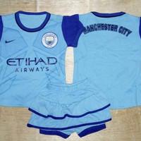 Setelan Bayi Cewek / Baju Bola Anak Rok Manchester City Home 16/17