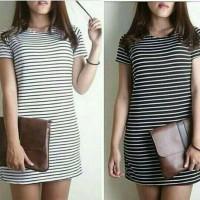 Minidress stripe tee / atasan wanita / baju belang