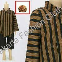 Baju + Celana + Blangkon + Surjan Lurik Anak L, XL, XXL Batik Jawa