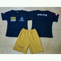 Polisi Turn Back Crime - Setelan Kaos Baju Anak Bayi