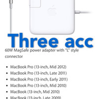Adaptor Charger Apple MacBook Magsafe for Mac Pro 60w/White ORIGINAL