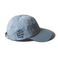 Topi Anti Social Social Club Korea ASSC Hat Pria Wanita Unisex Biru