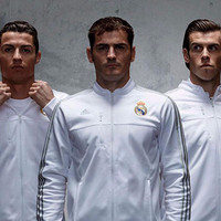 Jaket Bola Grade ORI Real Madrid Anthem White Official 2015-2016 Berku