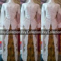 BAJU PESTA Set Kebaya Abaya Akad Nikah Muslim RVy Collection