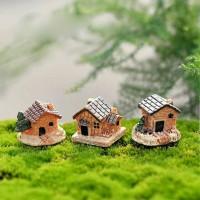 Miniature rumah CABIN HOUSE bahan terrarium hiasan aquarium taman