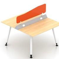 meja kantor partisi 2 orang modera modern ukuran meja 120cm dgn sekat